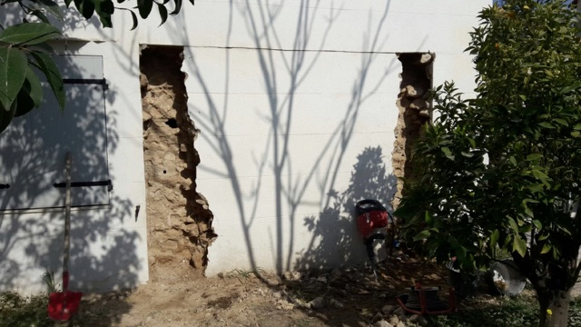 ouverture mur maitre